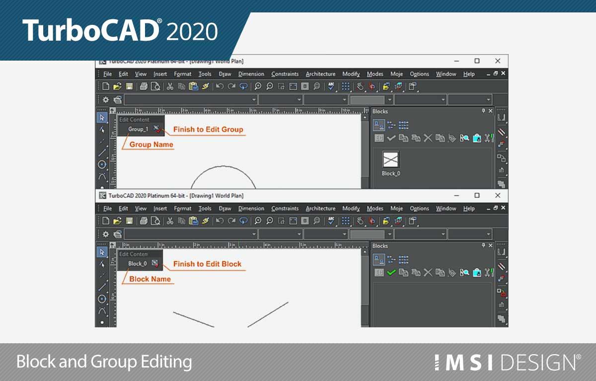 Block and Group Editing