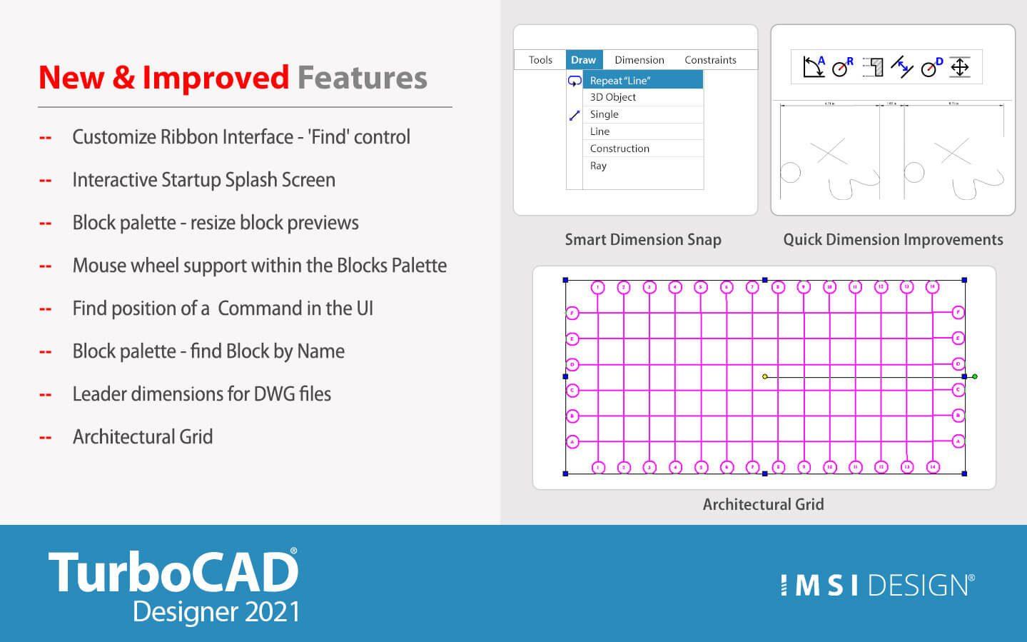 What's New in TurboCAD Designer